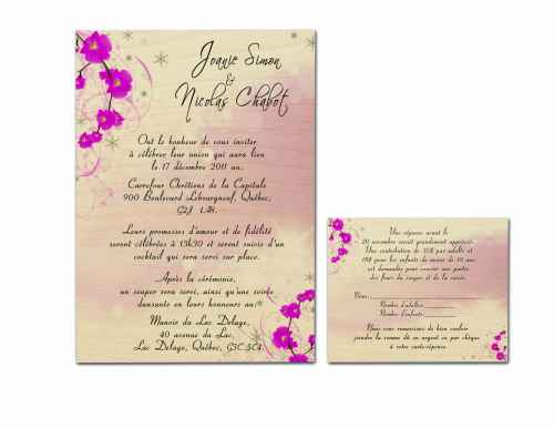 Faire part/Invitation